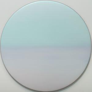 Aqua Lavender Shift Moon 2.20.2.1.M.1.2.3.G.3 by Miya Ando contemporary artwork