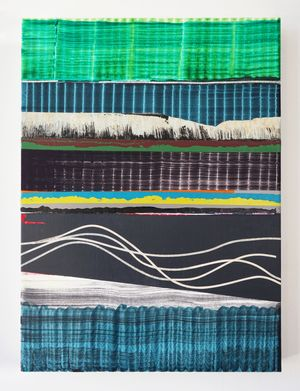 Cabellos de Agua by Juan Uslé contemporary artwork