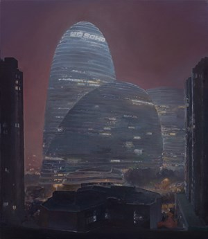 Wang Jing Soho in the Haze 霧霾夜的望京 by Lu Liang contemporary artwork