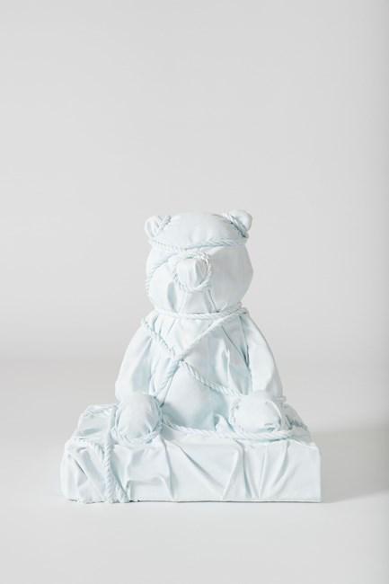 Wrapped Bear (Blue) by Daniel Arsham contemporary artwork