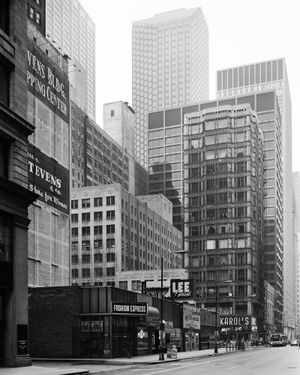 Washington Street / reliance Building, Chicago 1990 by Thomas Struth contemporary artwork