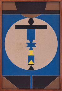 Emblema 86 by Rubem Valentim contemporary artwork painting