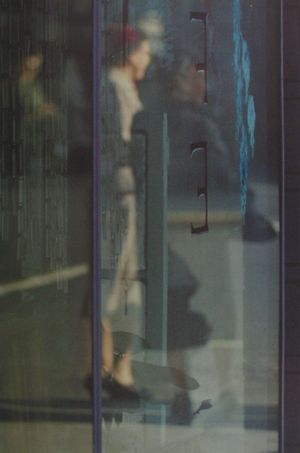Walking by Saul Leiter contemporary artwork