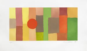 Journey by Etel Adnan contemporary artwork