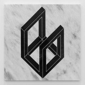 Open Cube/ After LeWitt 8 by Hamra Abbas contemporary artwork