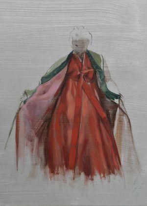 Vermilion Study by Helena Parada Kim contemporary artwork