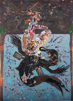 Beneath Lies the Power by Wangechi Mutu contemporary artwork