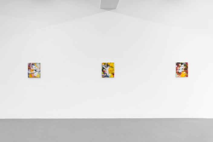 Exhibition view: Nigel Cooke, Spring in Fialta, Buchmann Galerie, Berlin (26 April–29 June 2019). Courtesy Buchmann Galerie.