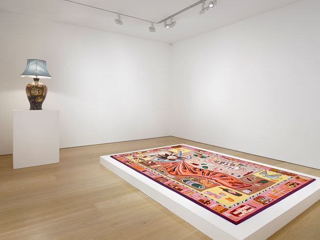 Exhibition view: Grayson Perry,Super Rich Interior Decoration, Victoria Miro Gallery, Mayfair, London (25 September–20 December 2019). Courtesy the artist and Victoria Miro, London/Venice.