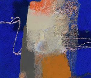IN BLUE Oct '20 (B) by Katsuyoshi Inokuma contemporary artwork painting