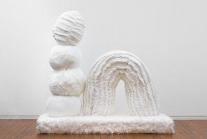 Mothering Garden: Rainbow Sculpture by Kathy Temin contemporary artwork