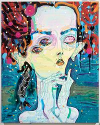 skip to my lou, my darling by Del Kathryn Barton contemporary artwork mixed media