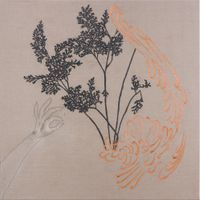 Arrangement for The Galapagos (Gymnogramma chaerophylla, after Darwin) by Caroline Rothwell contemporary artwork mixed media