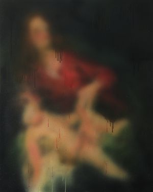 MADONNA WITH CHILD by Miaz Brothers contemporary artwork