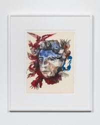 Portrait of Adrienne Rich: Diving into the Wreck by Shahzia Sikander contemporary artwork works on paper
