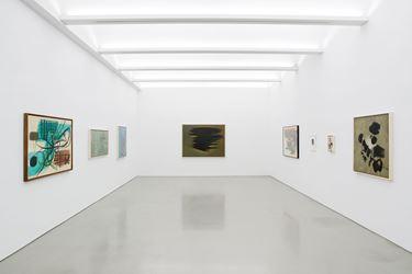 Exhibition view: Hans Hartung, A Constant Storm, Perrotin, New York (12 January–18 February 2018).©Hans Hartung / ADAGP, Paris & ARS, New York, 2018. Courtesy Perrotin, Hong Kong. Photo: Claire Dorn.