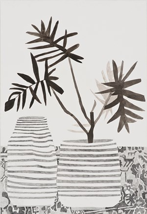 Still Life with Animal Pattern by Jonas Wood contemporary artwork