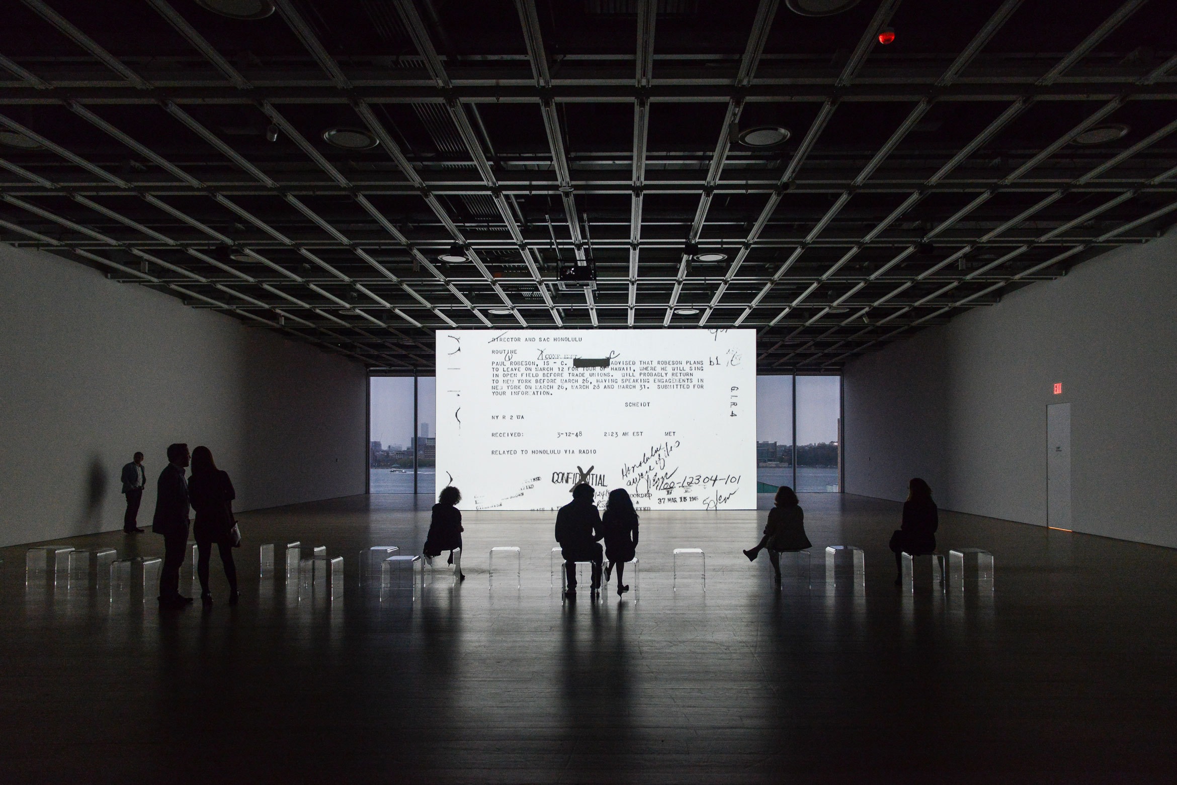 Exhibition view of Open Plan: Steve McQueen (Whitney Museum of American Art, New York, April 29–May 14, 2016). Courtesy The Whitney Museum of American Art. Photograph: Matt Carasella.