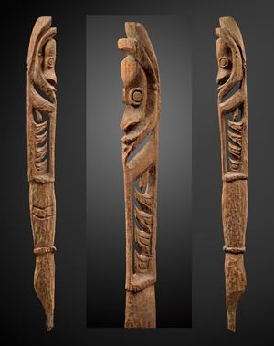 Large 'Aripa' hunting and warfare spirit figure by Melanesia contemporary artwork