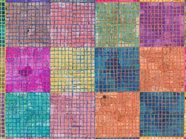 "McArthur Binion<br><em>Modern:Ancient:Brown</em><br><span class=""oc-gallery"">Lehmann Maupin</span>"