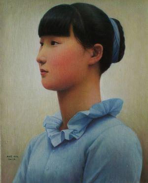 Naive Beauty by Xue Mo contemporary artwork