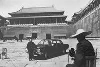 Photographer in Front of the Forbidden City, Beijing by Marc Riboud contemporary artwork photography, print
