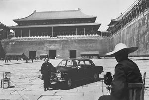 Photographer in Front of the Forbidden City, Beijing by Marc Riboud contemporary artwork