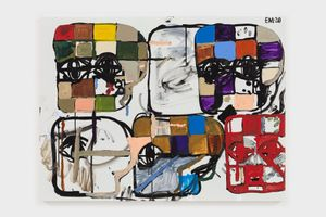 BH Grid No. 3 by Eddie Martinez contemporary artwork