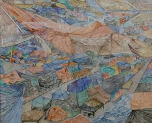 Topographic Spread III (Mahanirban Road) by Adip Dutta contemporary artwork