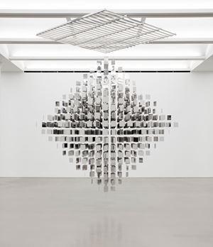 Continuel mobile en diagonal by Julio Le Parc contemporary artwork