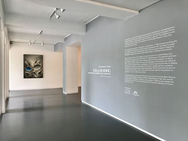 Exhibition view: Chun Kwang Young, Collisions: Information, Harmony and Conflict, Sundaram Tagore Gallery, Singapore (22 November 2019–1 February 2020). Courtesy Sundaram Tagore Gallery.
