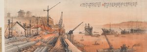 Yangtze River Bridge by Li Xiongcai contemporary artwork