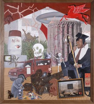 Conquest Door: Immortalizing the Legacy of Santiago Bose by Kawayan de Guia contemporary artwork