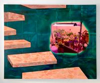 Stairs by Kelsey Shwetz contemporary artwork painting, works on paper