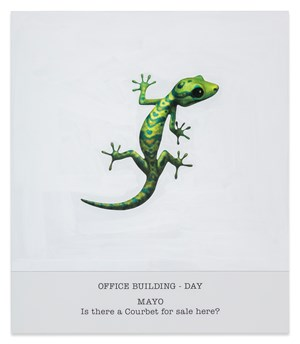 OFFICE BUILDING - DAY MAYO Is there a Courbet for sale here? by John Baldessari contemporary artwork