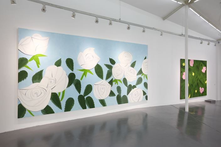 Alex Katz, West Broadway and Spring, 2016, Exhibition view at West Bund Art & Culture Pilot Zone. Courtesy the Artist and Timothy Taylor, London. © Alex Katz.