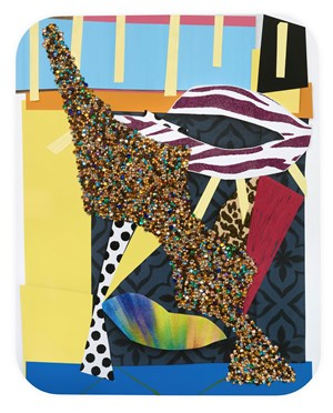 Untitled #17 by Mickalene Thomas contemporary artwork