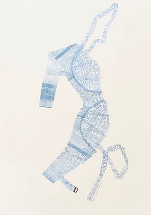 Sewing Pattern 1, Feminine by June Ho contemporary artwork works on paper, print