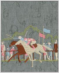 Jockey (brown, ocher) by Tobias Kaspar contemporary artwork painting