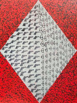 Guns Arrows by Aung Myint contemporary artwork