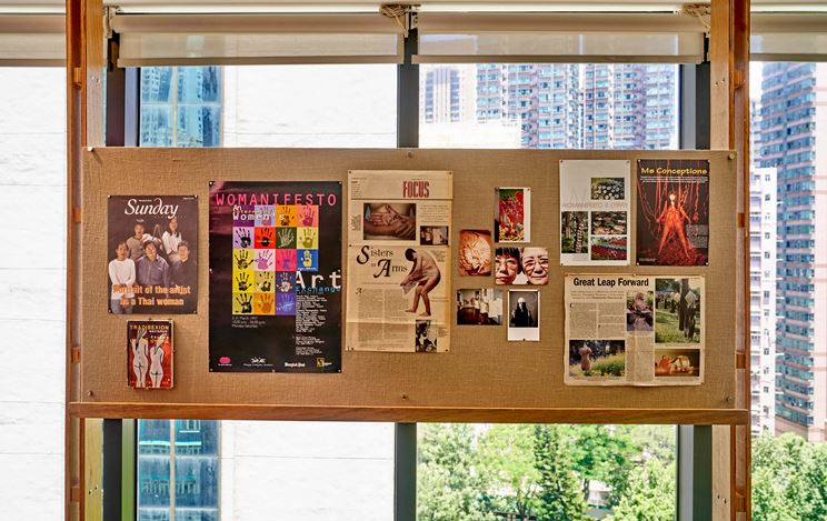 Exhibition view: Crafting Communities, Asia Art Archive (16 July–31 October 2020). Courtesy Asia Art Archive, Hong Kong. Photo: Kitmin Lee.