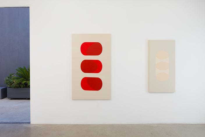 Exhibition view: Jovana Millay, Levitation, AE2, Los Angeles (2 November–14 December 2019). Courtesy Anat Ebgi.