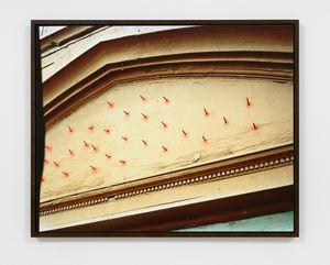 Nail Façade / above the door picture by Lucas Blalock contemporary artwork