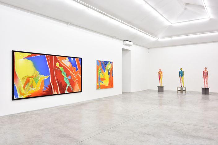 Exhibition view: Allen Jones, Almine Rech, Paris (7 March–30 May 2020). © Allen Jones.Courtesy the Artist and Almine Rech. Photo: Rebecca Fanuele.