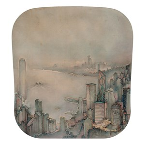 The first glimmer of dawn on Hong Kong harbour by Xu Jianguo contemporary artwork