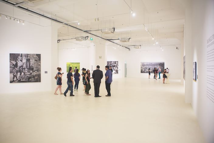 Mangu Putra, Between History and the Quotidian, Exhibition view at Gajah Gallery, Singapore. Image courtesy of Gajah Gallery, Singapore.
