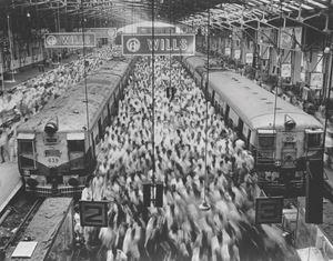 Church Gate Station, Western Railroad Line, Bombay India by Sebastião Salgado contemporary artwork