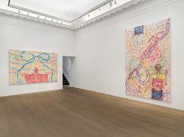"Jutta Koether<br><em>4 the Team</em><br><span class=""oc-gallery"">Lévy Gorvy</span>"
