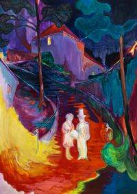 Midnight Wedding by Rao Fu contemporary artwork painting, works on paper