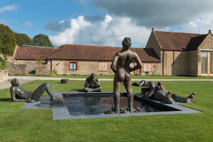 Exhibition view:Nicole Eisenman, Where I Was, It Shall Be, Hauser & Wirth, Somerset (3 October 2020–10 January 2021). © Nicole Eisenman. Courtesy the artist and Hauser & Wirth. Photo: Ken Adlard.